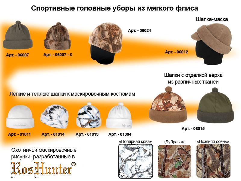 головные уборы для охоты и рыбалки